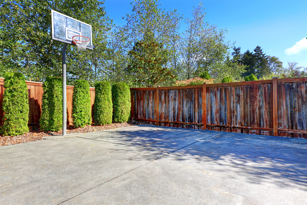 Make A Diy Concrete Basketball Court In