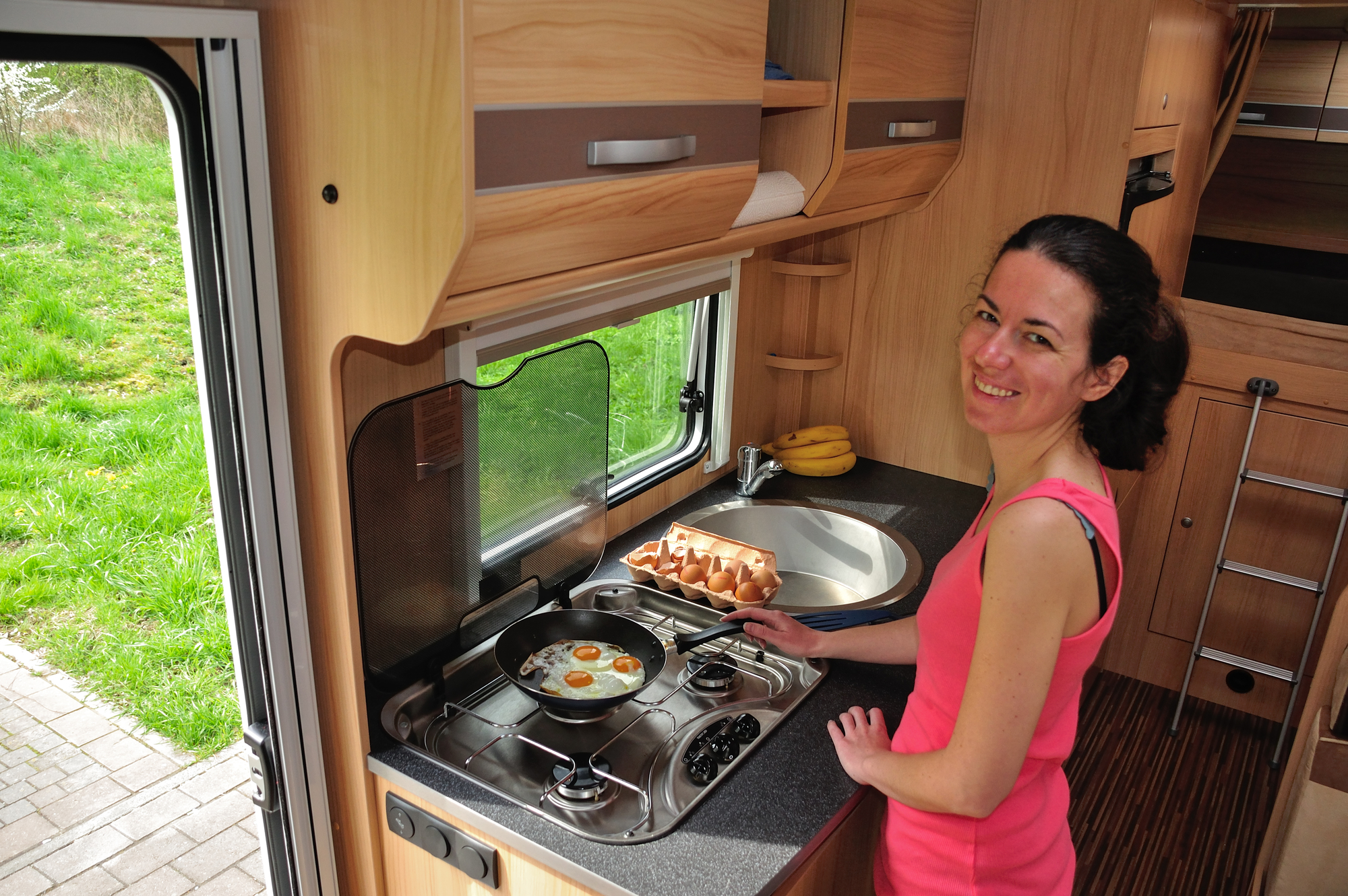 RV Camping Whether Cooking Inside