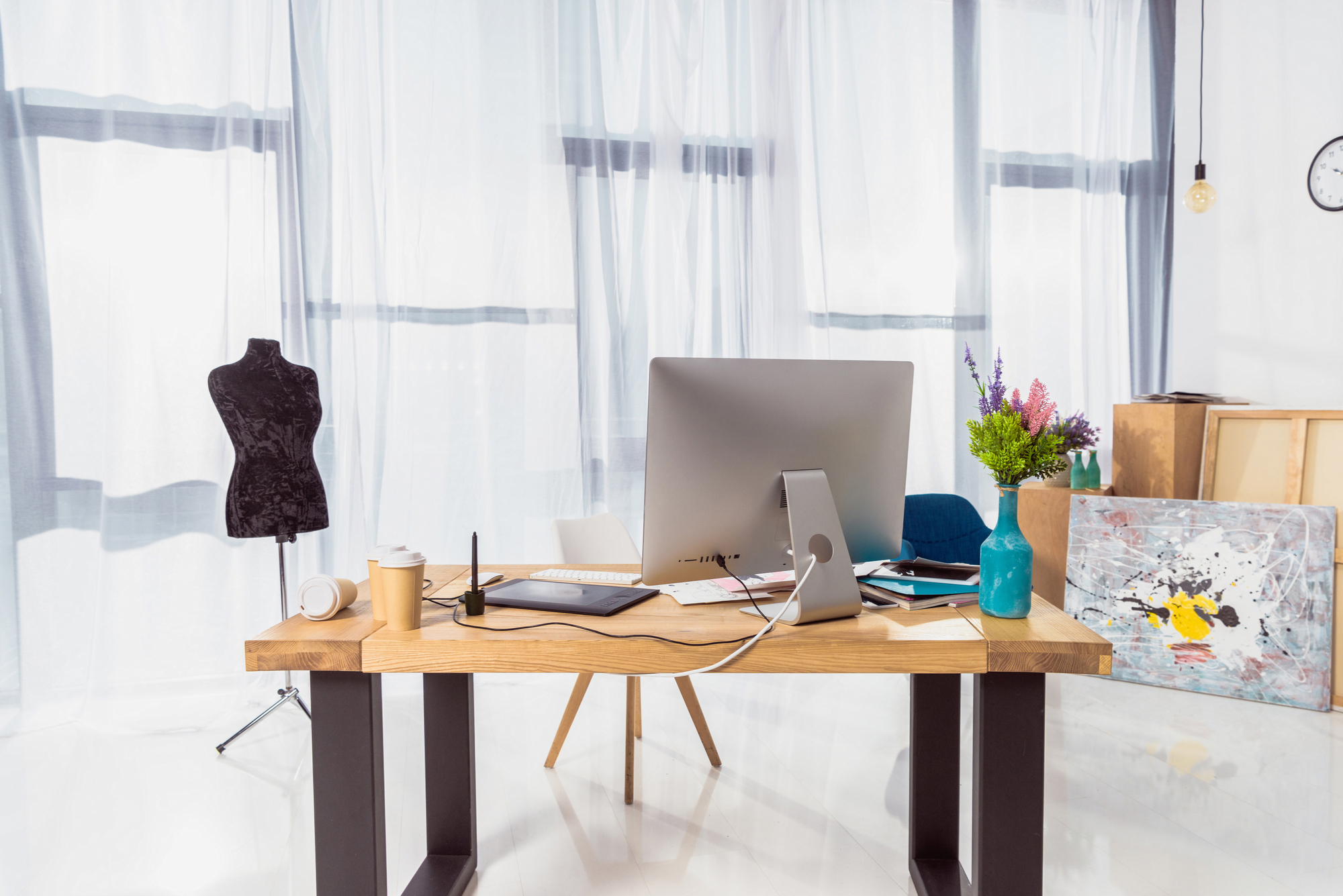 choose home office modern how much natural light should you let in choose window treatments for your home office