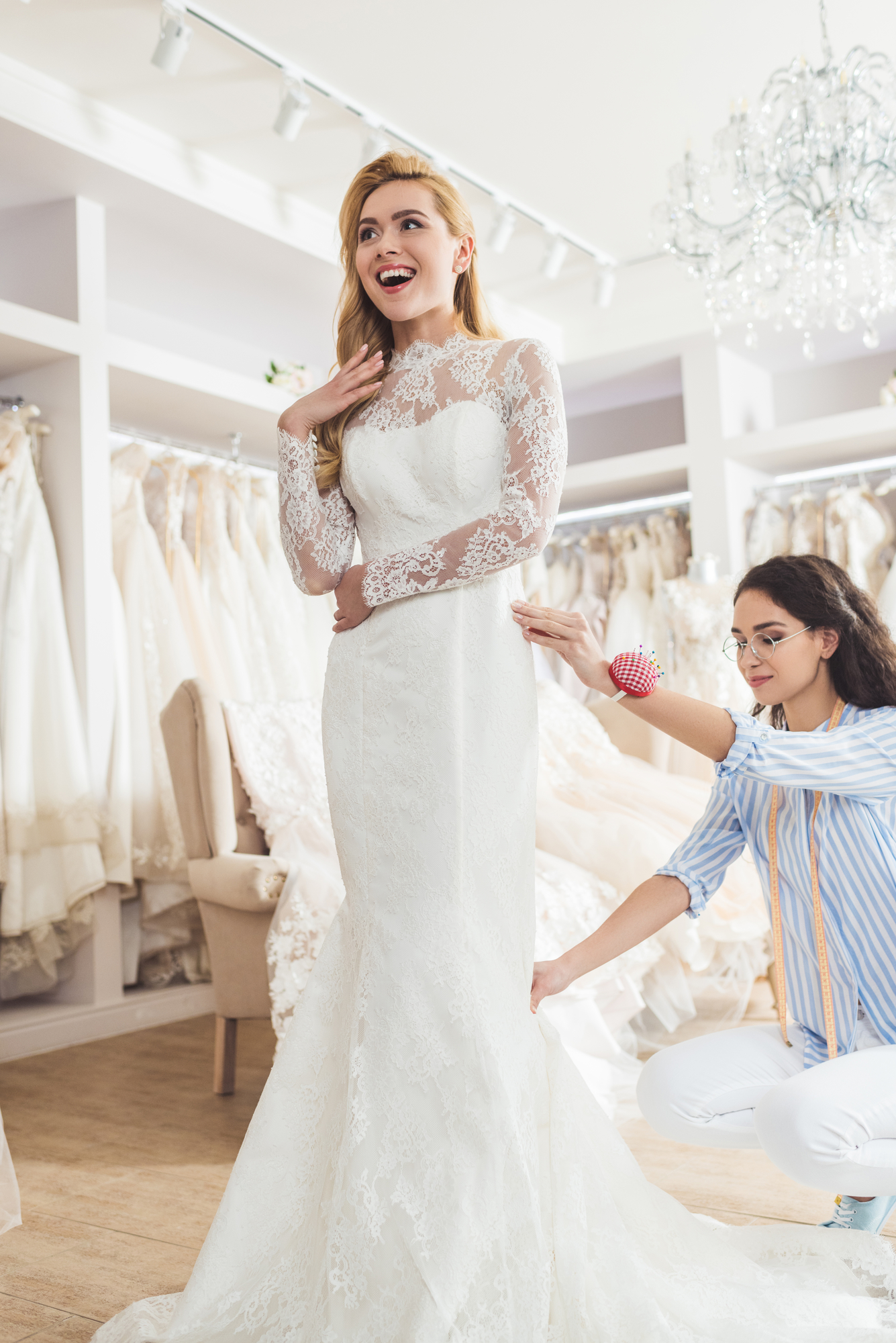 a bride's guide to wedding dress fittings - memories bridal