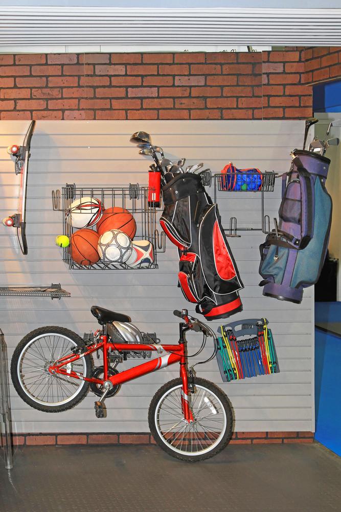 organized garage wall