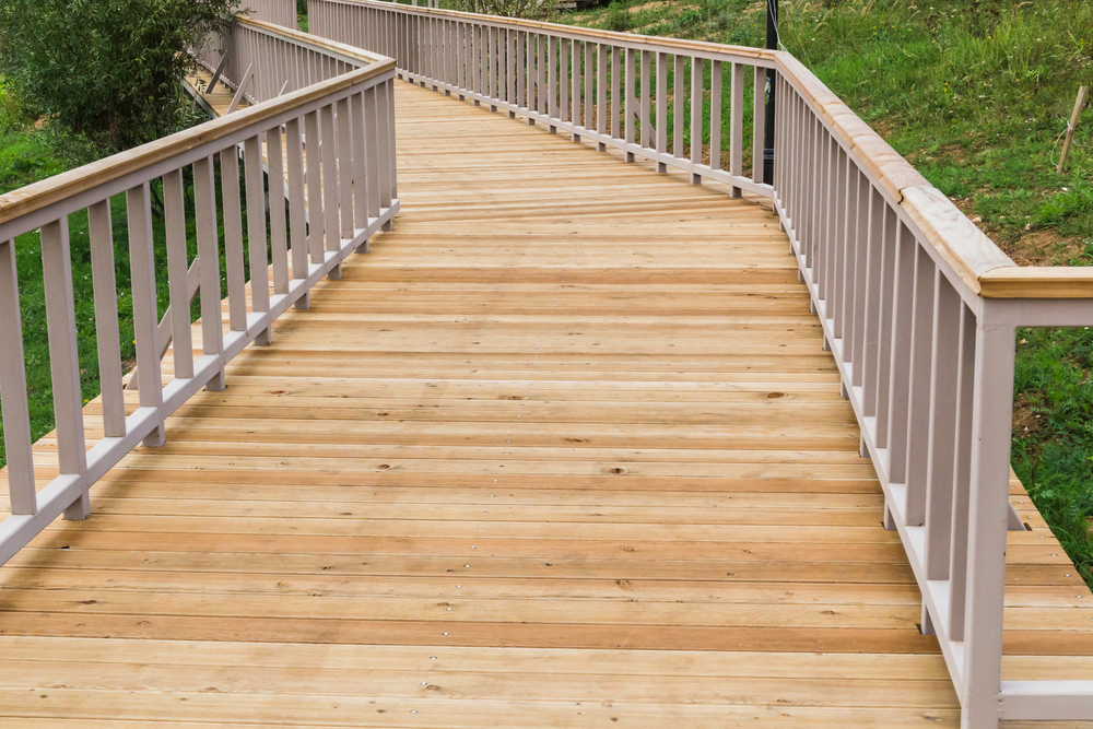 Does staining work on composite decking c a m door for Staining trex decking