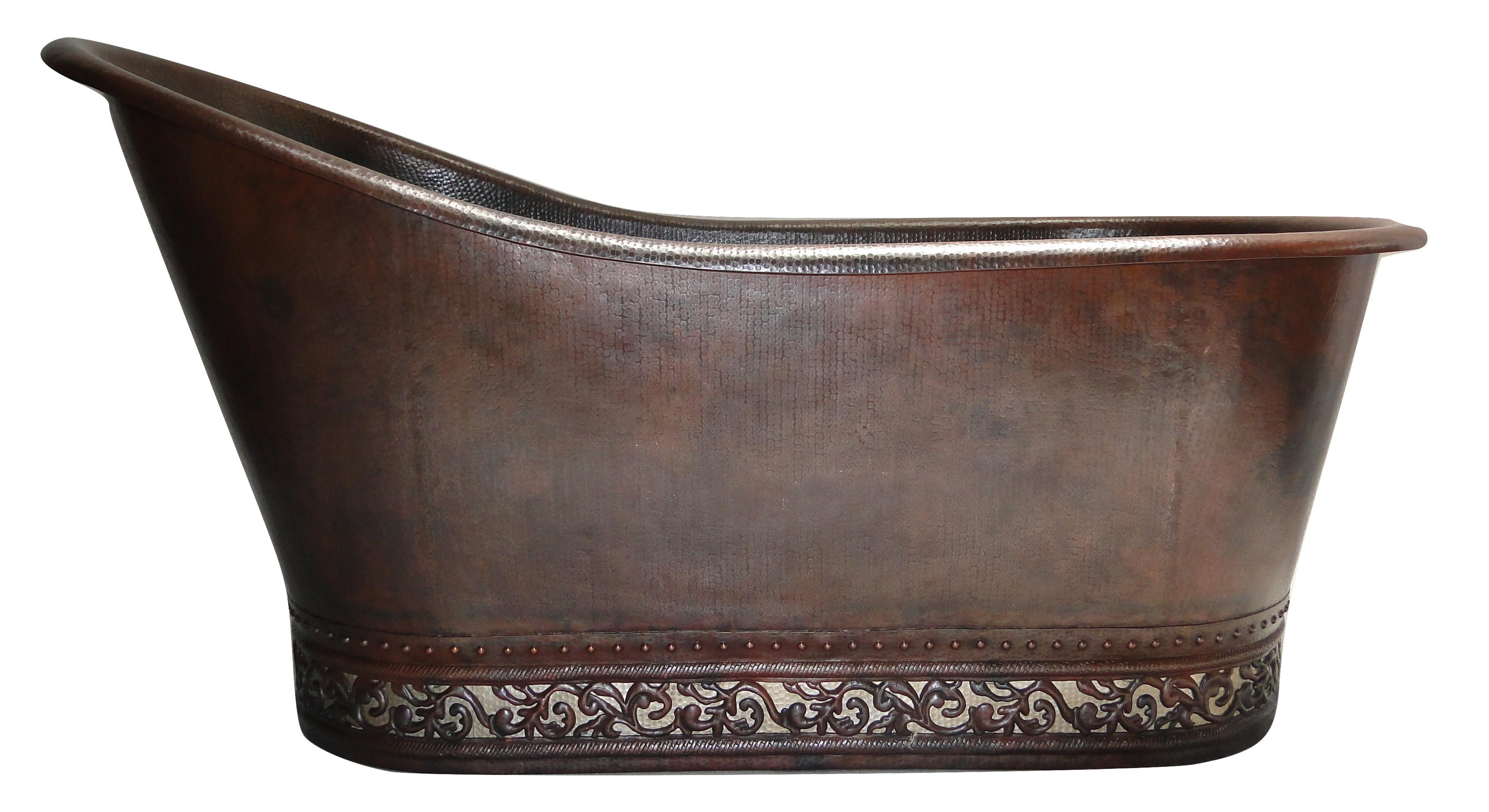 Relax in a Copper Clawfoot Tub $100 f Any Copper Bathtub