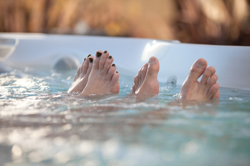 Regular soaking in a hot tub improves circulation and recovery.