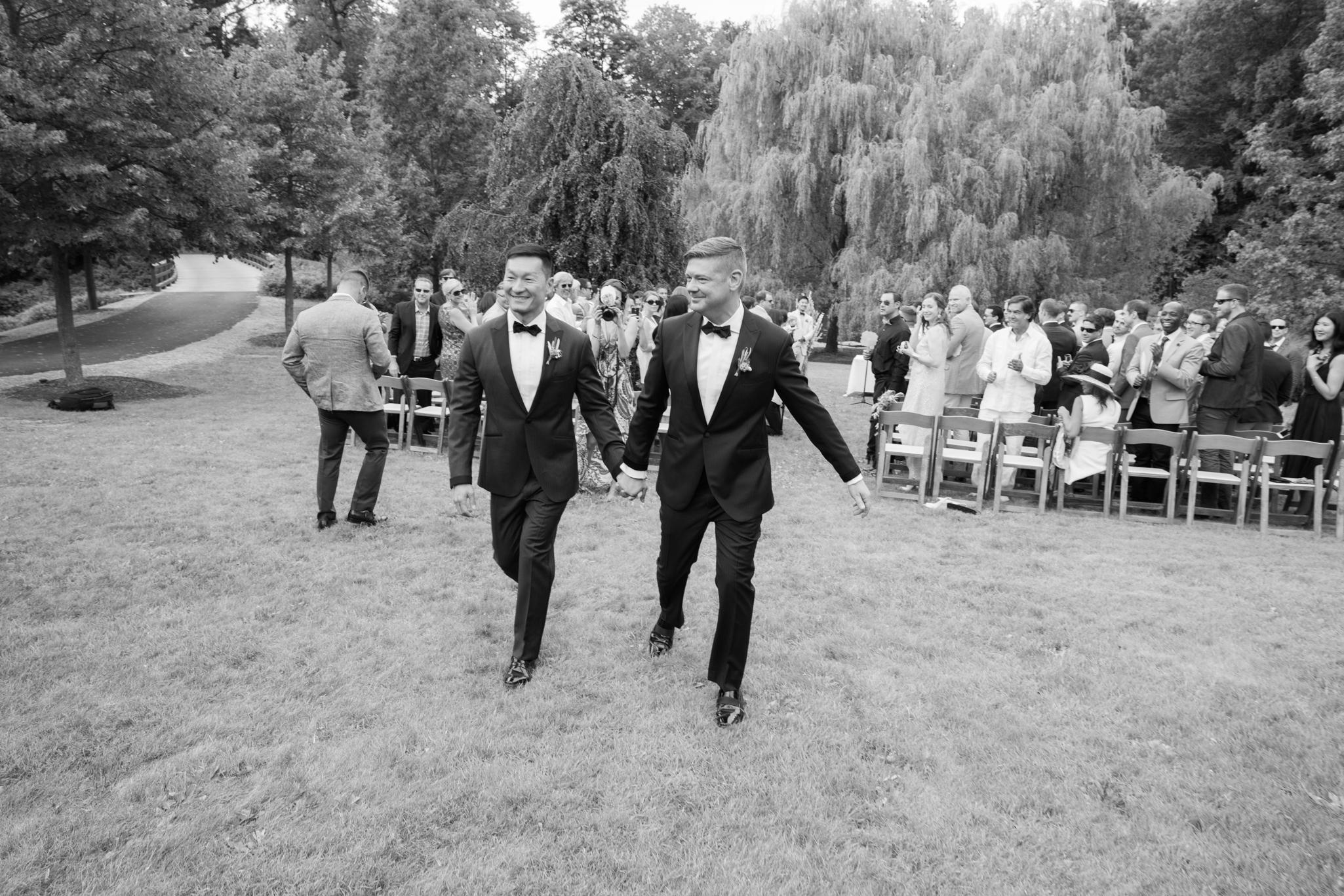 Gay LGBT Wedding - Buttermilk Falls - New York