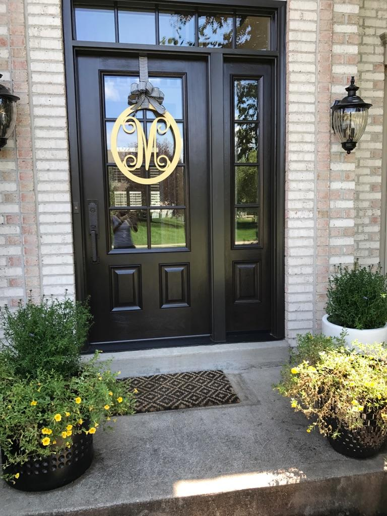 Front door friday for a provia door installed by jfk for Anderson front doors