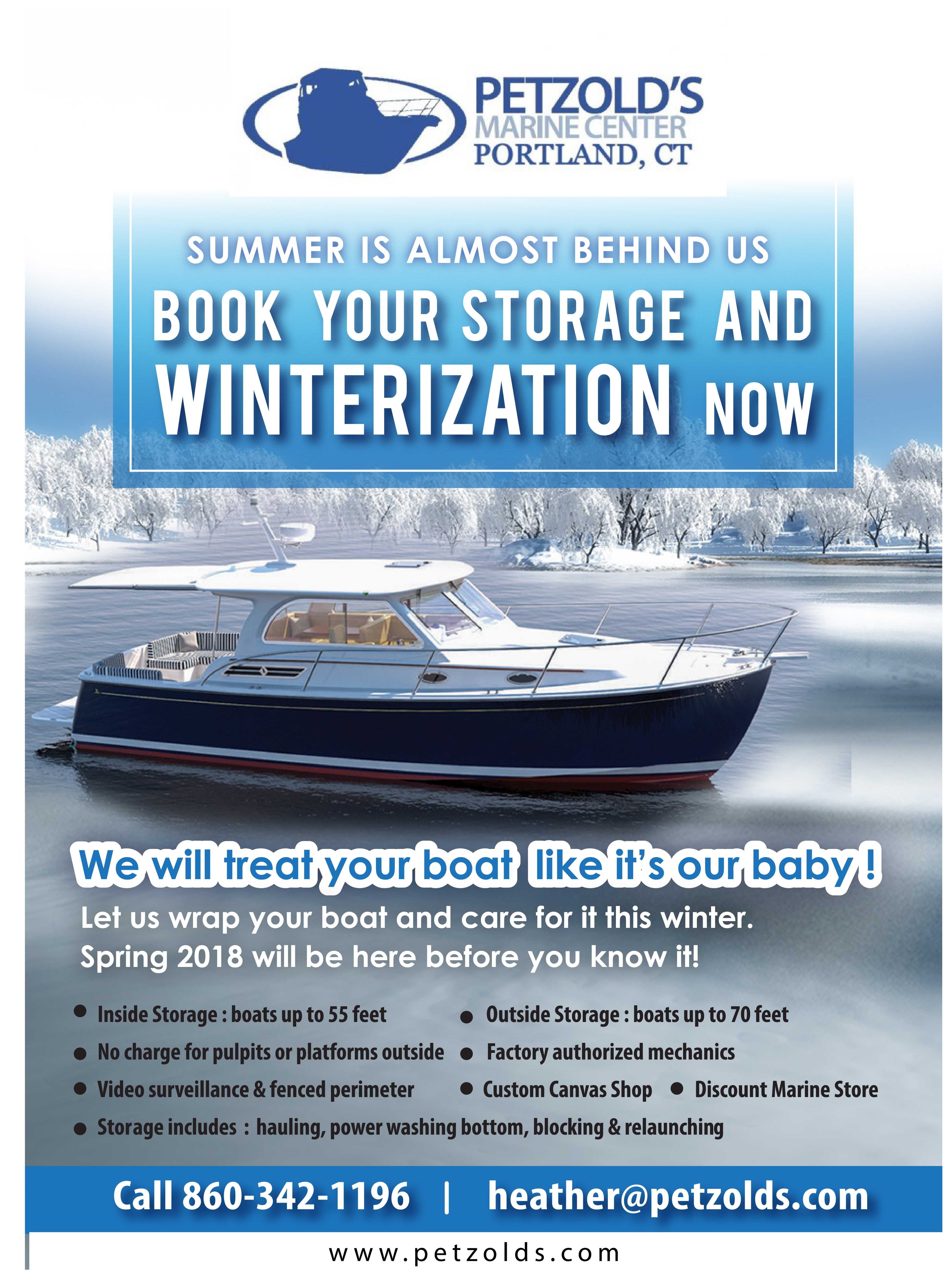 Book Your Storage U0026 Winterization Now!   Petzoldu0027s Yacht Sales ...