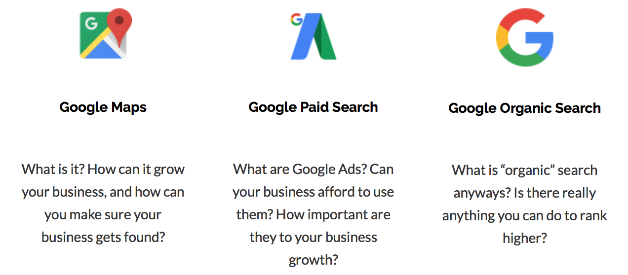 Google Maps, Paid Search and Organic Search - Free Webinar