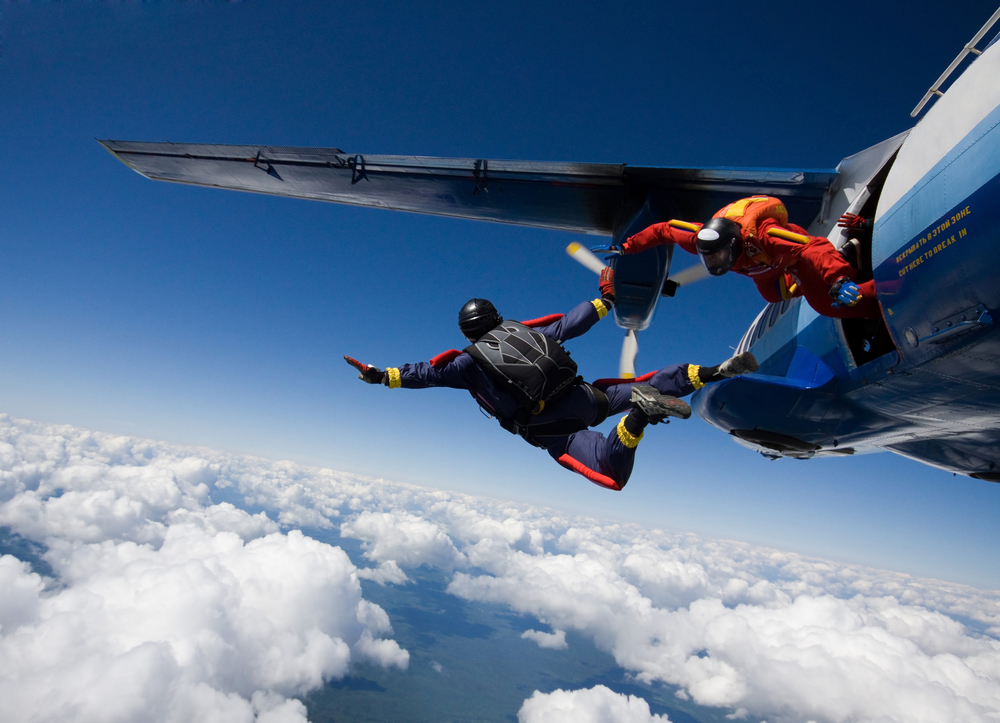 first-time skydiving