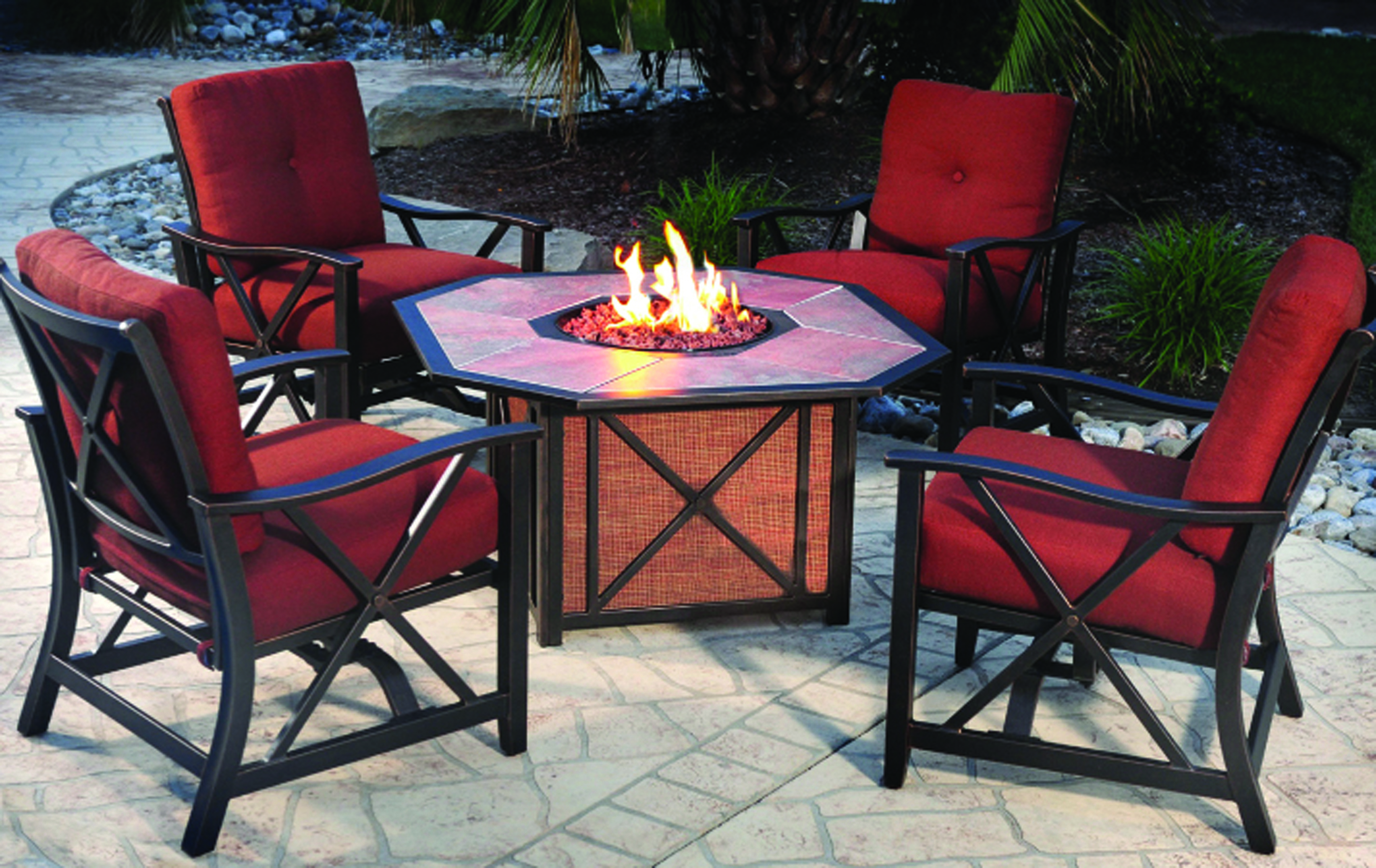 fireplace and firepit