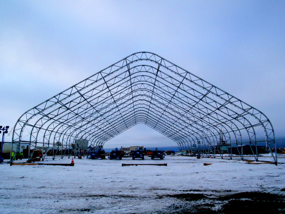 Metal Covered Structures : Advanced fabric covered steel building options which