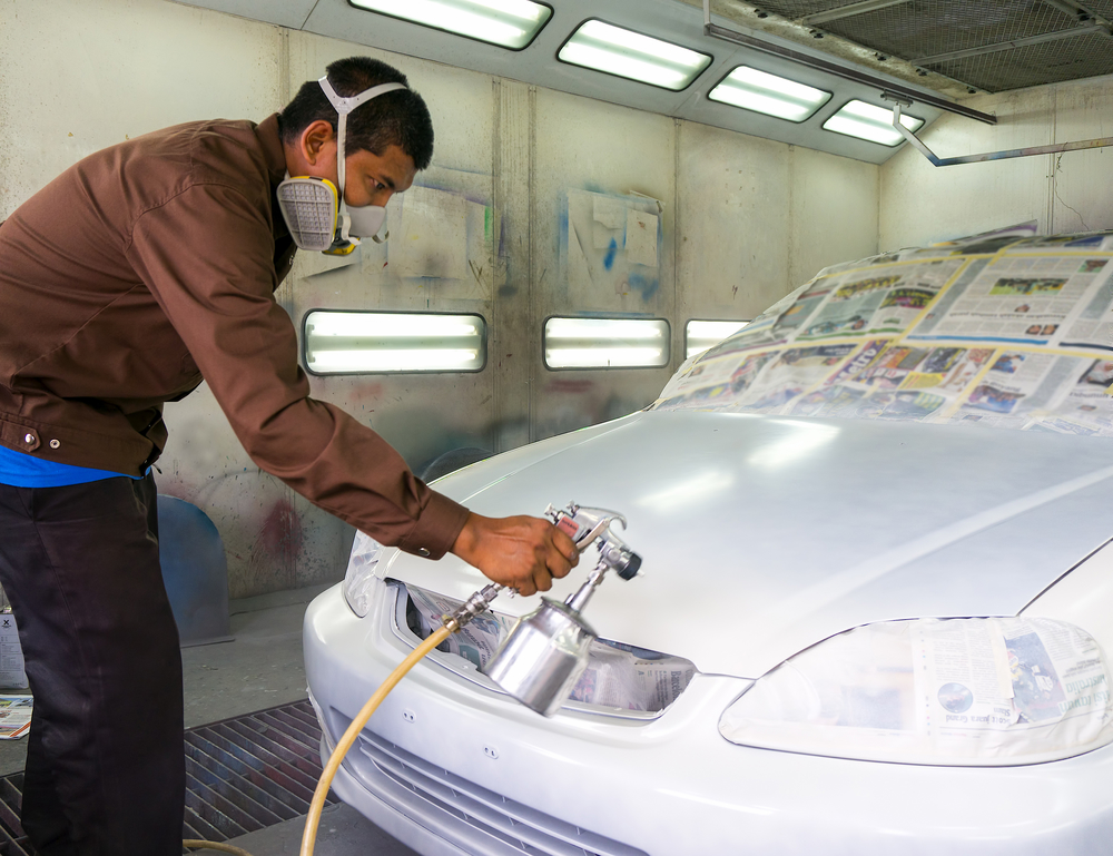 How a new paint job from an auto body shop adds value to for Car paint shop