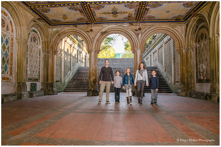 bethesda fountain central park family photos, central park family photographer