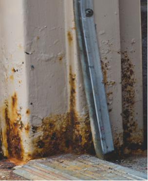 Corroded Metal Door Frame