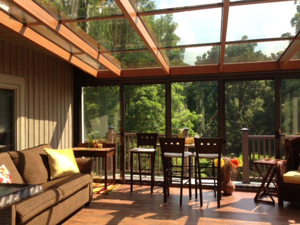 glass roof sunroom