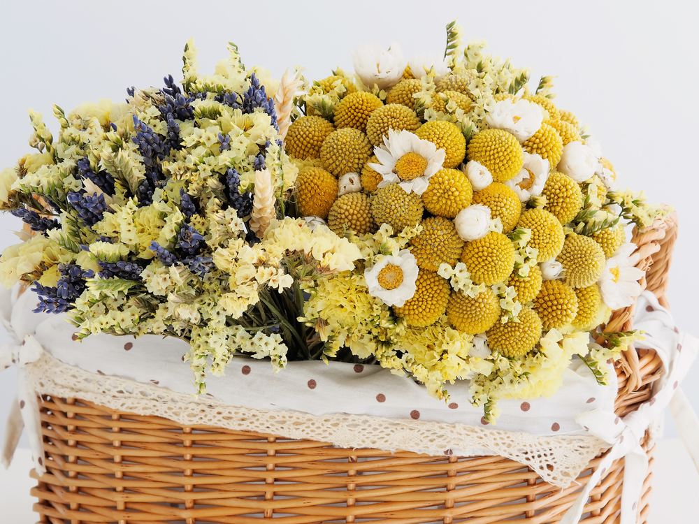 5 unique flowers to include in your wedding bouquet stacys more closely resembling a small yellow golf ball than a flower at first glance craspedia or billy buttons are whimsical blooms that feature spherical mightylinksfo