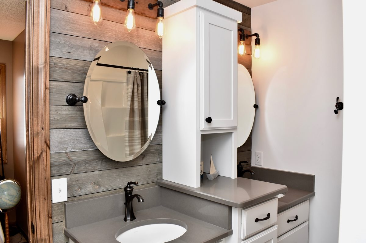 Bathroom Remodeling 2. Focal Point Wall
