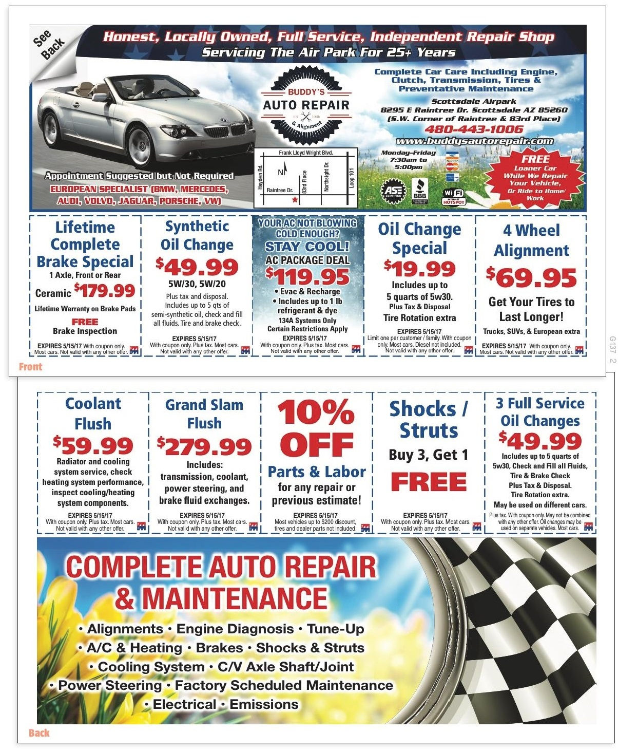 Complete Auto Repair Maintenance Specials Coupons Buddy S