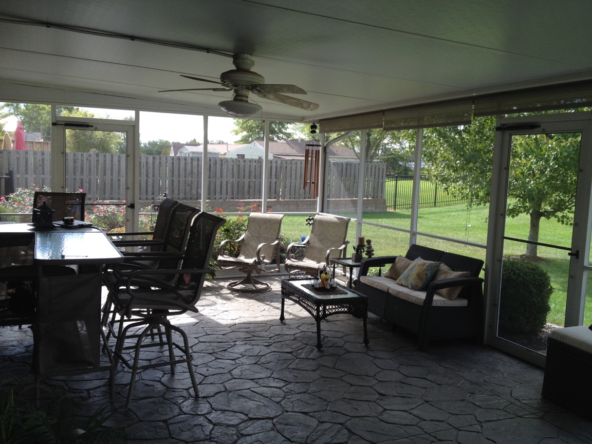 how to clean screens on porch