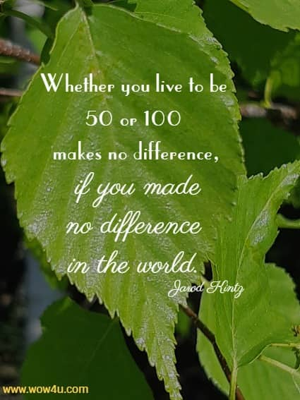 thought for today .... Make a difference