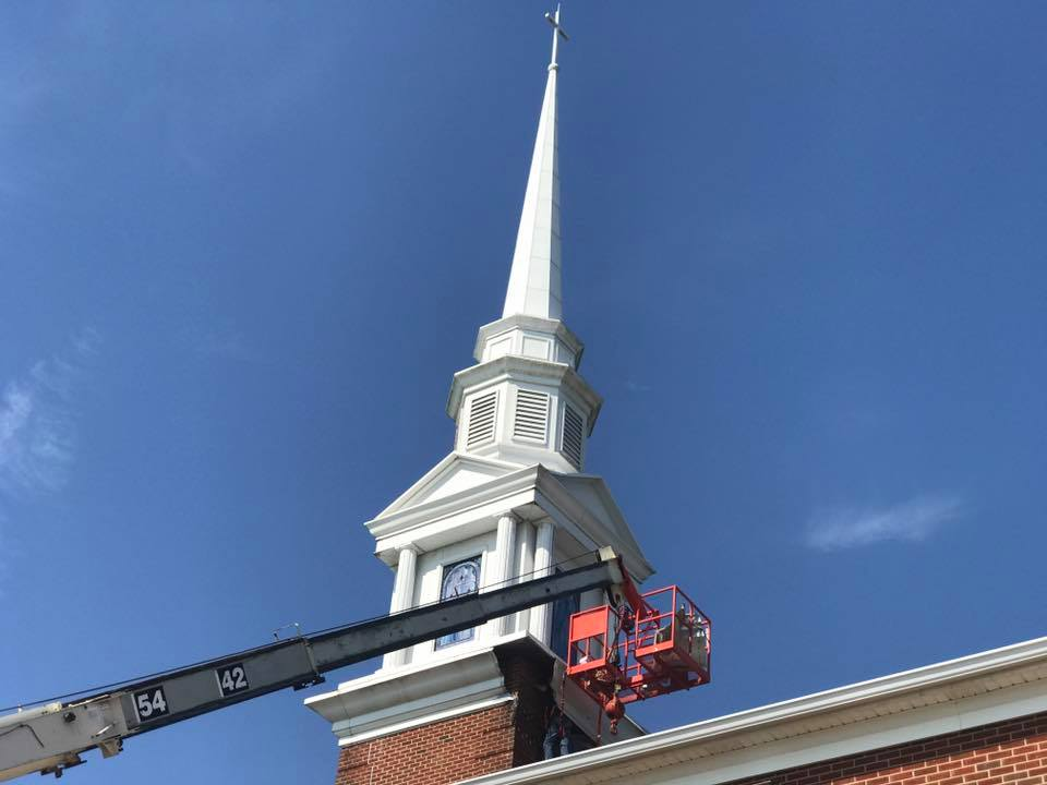 steeple cleaning