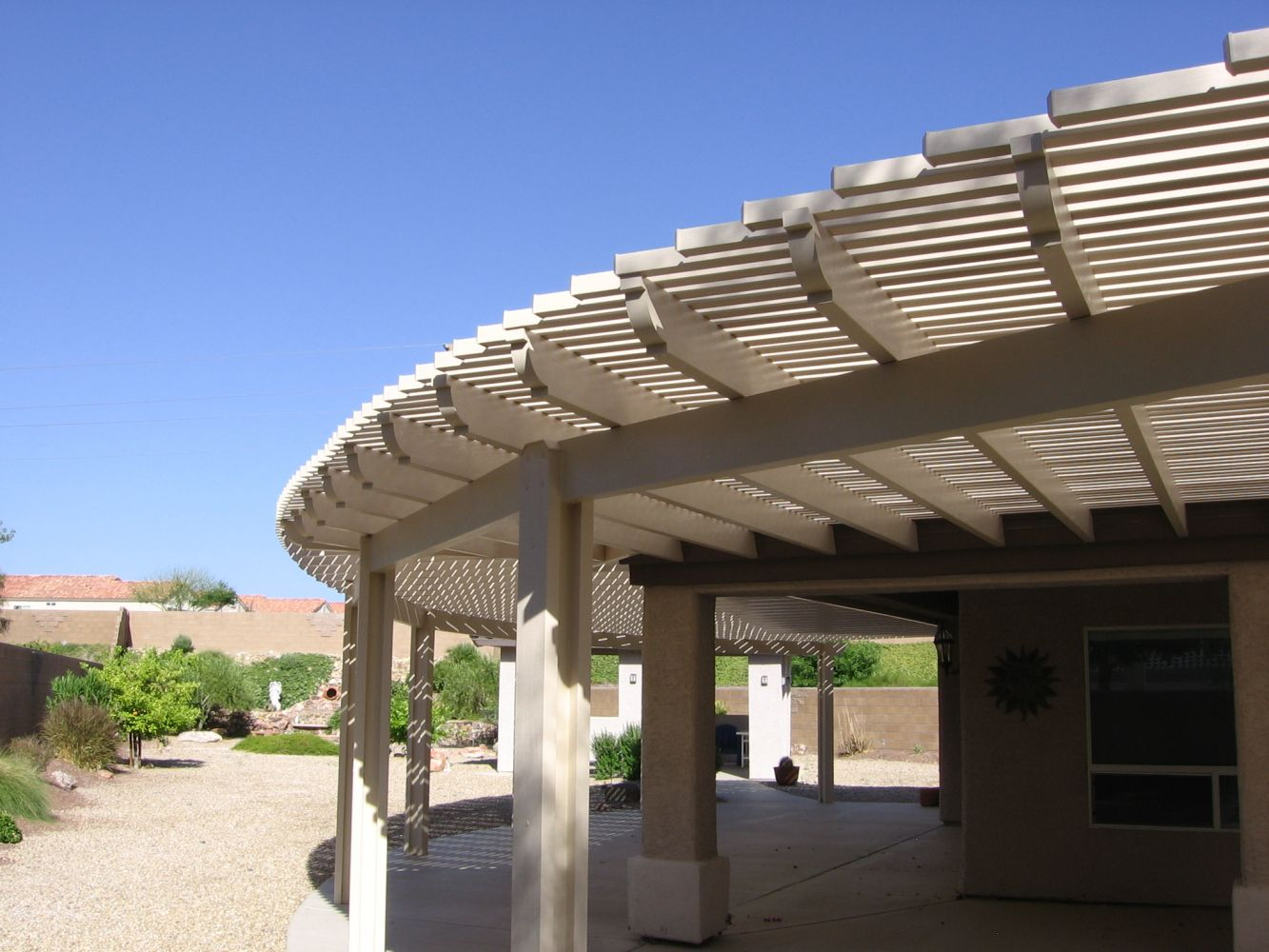 front pin awnings landscaping with backyard simple as wood awning in exterior porch ideas columns