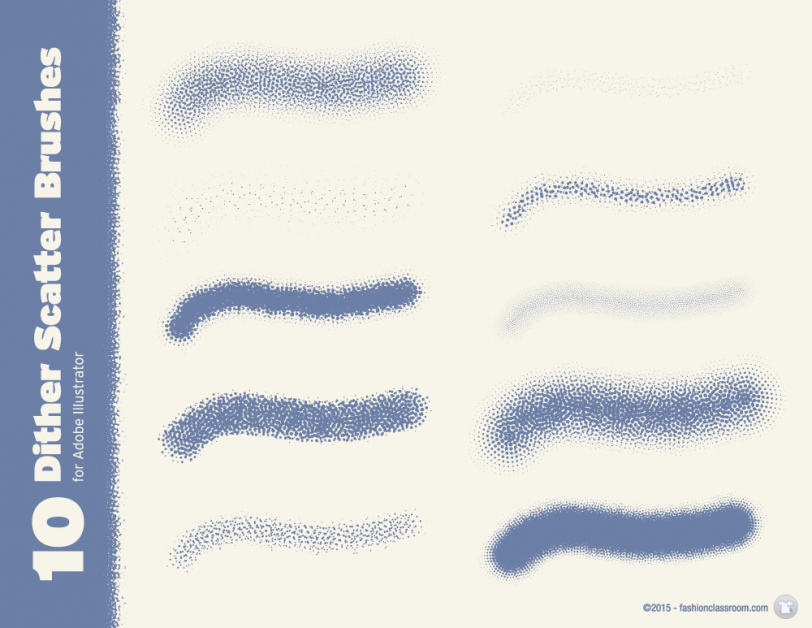 10 Dither Scatter Brushes For Adobe Illustrator Fashion Classroom
