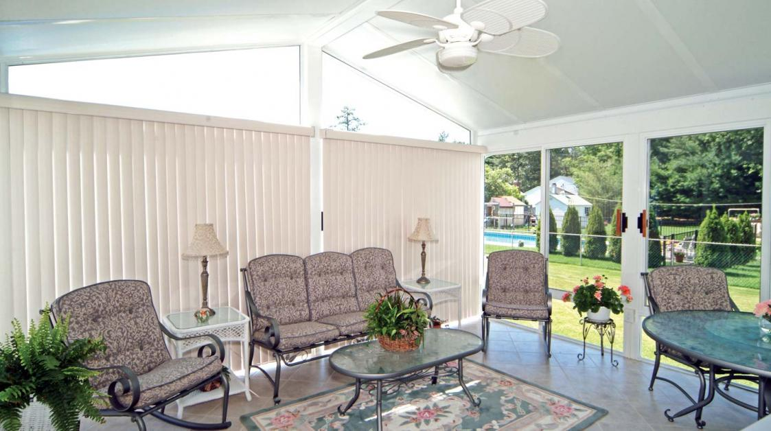 5 Window Treatment Ideas for Your Sunroom - Patio Solutions ... on raised fireplace designs, raised bedroom designs, raised concrete patio designs, raised pond designs, raised pool designs, raised yard designs, raised kitchens designs, raised deck designs, raised ceilings designs, raised roof designs, raised gazebo designs, raised porch designs, raised garden designs, raised entry designs, raised breakfast bar designs, raised spa designs, raised stone patio designs,