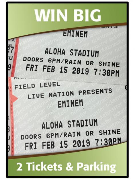 Win 2 Tickets to Eminem - Hawaiian Financial Federal Credit