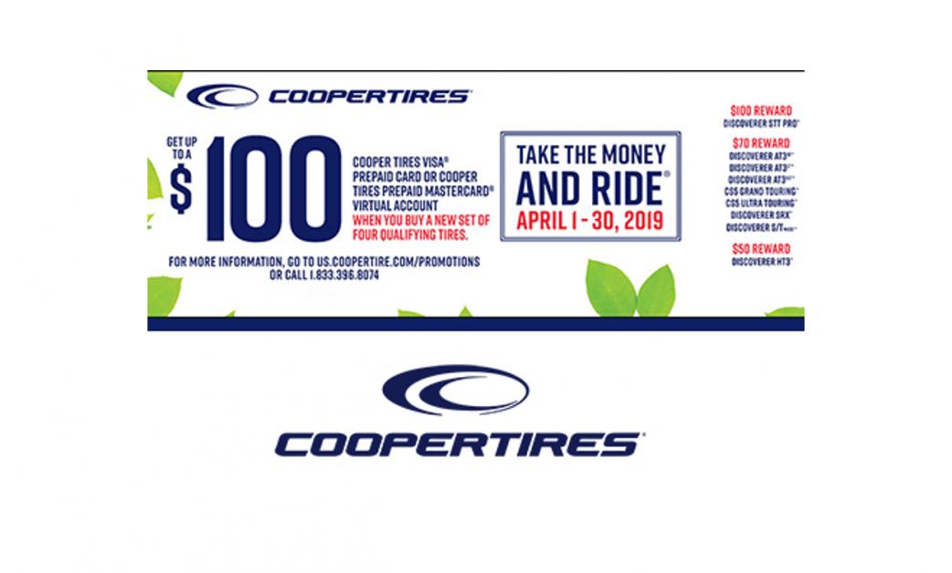 Cooper - Cooper Tires Spring Reward Offer - Brothers Tire