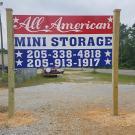 All American Mini Storage, Commercial Storage, Boat Storage, Self Storage, Pell City, Alabama