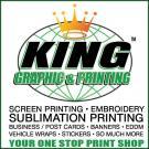 King Graphics & Printing, Custom Clothing, Custom Embroidery, Screen Printing, Commack, New York