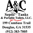 A & C Septic Tanks & Portable Toilets, Septic Tank Cleaning, Portable Toilets, Septic Systems, Douglas, Georgia