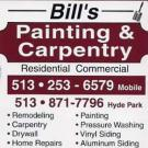 Bill's Painting & Carpentry, Painting & Siding, Interior Painters, Exterior Painters, Cincinnati, Ohio
