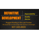 Definitive Construction, LLC, Excavation Contractors, Roofing Contractors, Roofing, Anchorage, Alaska