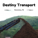 Destiny Transport, Hauling, Services, Genesee, Pennsylvania