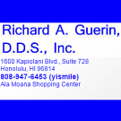 Richard A. Guerin, D.D.S., Inc., Dental Implants, Cosmetic Dentist, Dentists, Honolulu, Hawaii