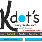 K-Dots Family Restaurant, Catering, Family Restaurants, American Restaurants, Cincinnati, Ohio