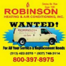 Robinson Heating & Air Conditioning, Inc., Heating & Air, Services, Middletown, Ohio