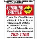 Sunshine Shuttle Hawaii, Taxis and Shuttles, Shuttle Services, Airport Transportation, Honolulu, Hawaii