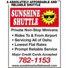 Sunshine Shuttle Hawaii, Taxis and Shuttles, Shuttle Services, Airport Transportation, Honolulu, Hawaii