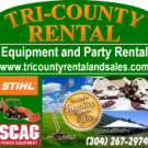 Tri-County Rentals Sales And Service Inc, Tool and Equipment Rental, Equipment Rental, Party Rentals, Martinsburg, West Virginia