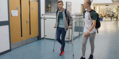 3 Tips for Life on Crutches , Lincoln, Nebraska