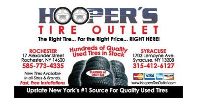 Hoopers Tire Outlet is New York's Best Choice for Used Tires, Rochester, New York