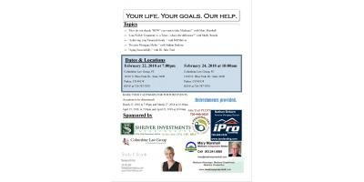 Your Life, Your Goals, Our Help: Columbine Law Group Seminar, Lone Tree, Colorado