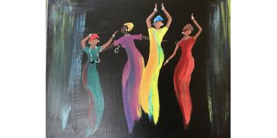 Dancing Ladies Paint Party, Maryland Heights, Missouri