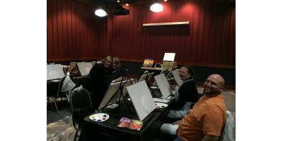 Paint Night at Dave and Buster's!!!, Maryland Heights, Missouri