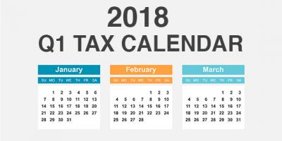 2018 Q1 Tax Calendar: Key Deadlines for Businesses and Other Employers, Mountain Home, Arkansas