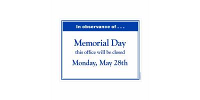 In observance of Memorial Day our office will be closed however, we are available 24/7 by calling 732-286-4700 , Forked River, New Jersey