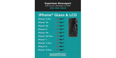 Best prices in Shreveport/Bossier on iPhone screen repairs!, 6, Louisiana